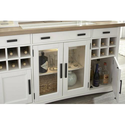 Parker House - AMERICANA MODERN DINING Buffet Server 66 in. x 19 in. with quartz insert