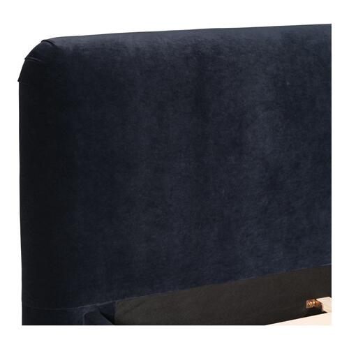Moe's Home Collection - Samara Queen Bed Blue Velvet