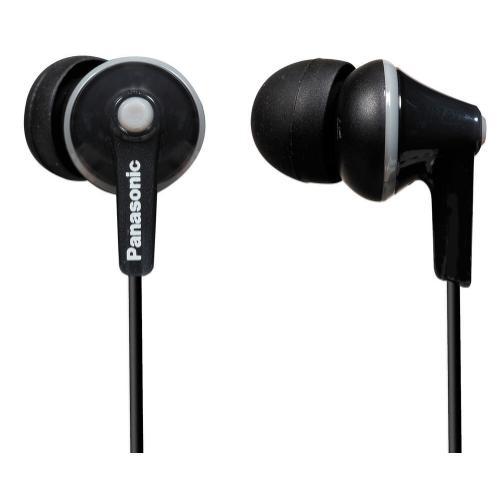 ErgoFit In-Ear Earbud Headphones - Black - RP-HJE125-K