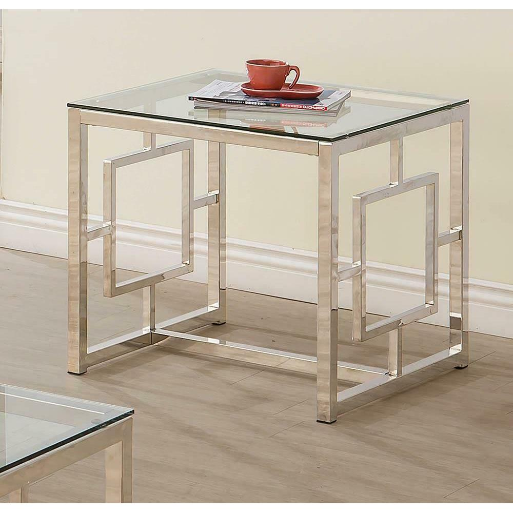 See Details - Occasional Contemporary Nickel End Table