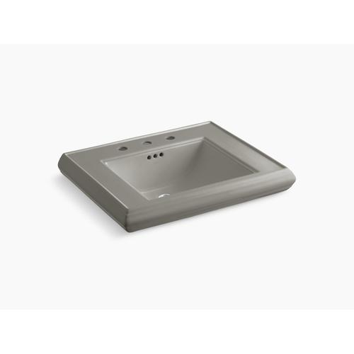"""Cashmere Pedestal/console Table Bathroom Sink Basin With 8"""" Widespread Faucet Holes"""
