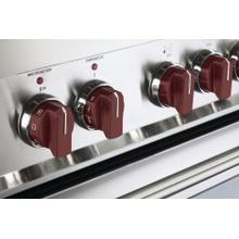 Color Knob Set for Designer Single Oven Electric Range - Burgundy