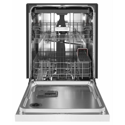 KitchenAid - 39 dBA Dishwasher with Third Level Utensil Rack - White
