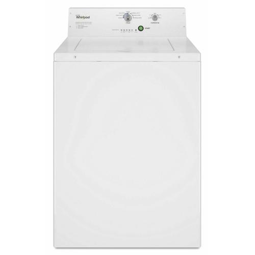 Whirlpool - Commercial Top-Load Washer, Non-Vend White