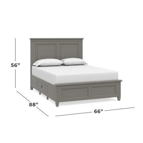 Shoreline Queen Panel Storage Bed, Storage 2 Drawers