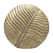 Large Textured Round Vase In Antique Brass