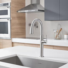 View Product - Studio S Pull-Down Dual Spray Kitchen Faucet  American Standard - Stainless Steel