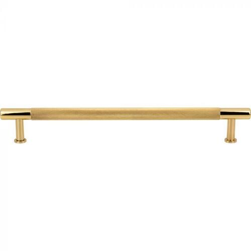 Vesta Fine Hardware - Beliza Knurled Appliance Pull 12 Inch (c-c) Polished Brass Polished Brass