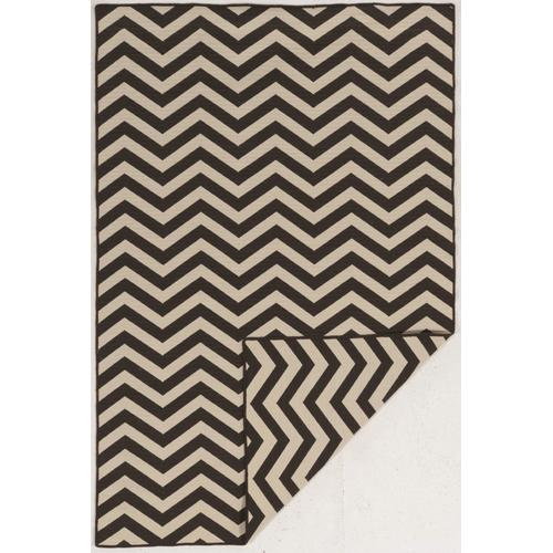 Saloniki Chevron Brown 5ft X 8ft