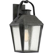 View Product - Carriage Outdoor Lantern in Mottled Black