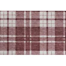 Elegance Plaid Chic Pldch Bordeaux Broadloom Carpet