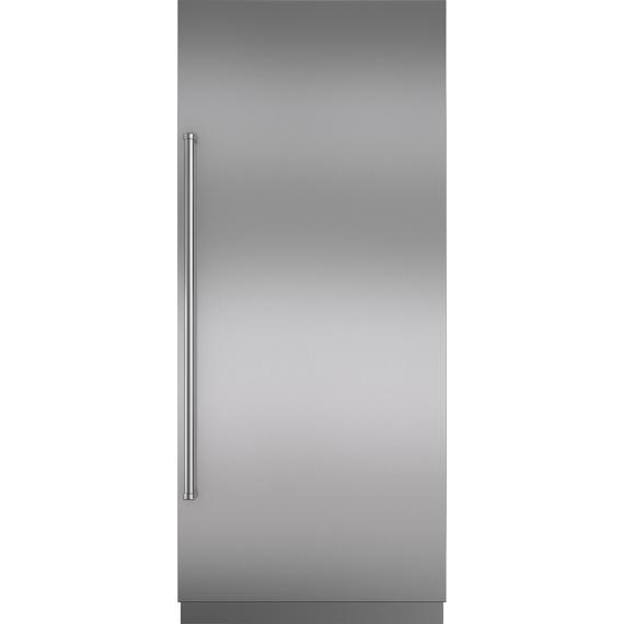 "Sub-Zero - Stainless Steel Door Panel with Pro Handle and 4"" Toe Kick - RH"