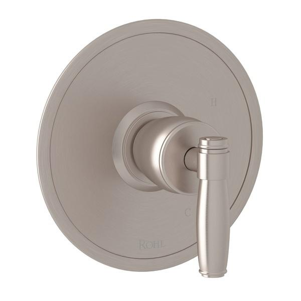 Satin Nickel Zephyr Pressure Balance Trim Without Diverter with Metal Lever Zephyr Series Only