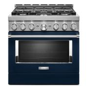 KitchenAid® 36'' Smart Commercial-Style Gas Range with 6 Burners Ink Blue Product Image