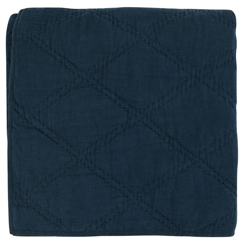 See Details - Caleb Hand Stitched Midnight Blue King Quilt