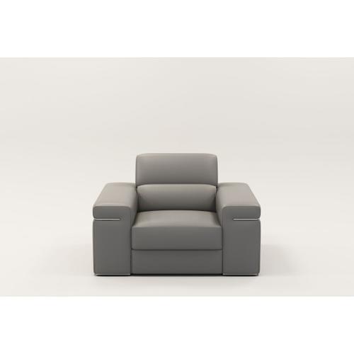 VIG Furniture - Divani Casa Atlantis - Modern Light Grey Vegan Leather Accent Chair