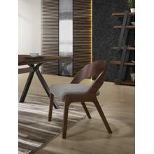 View Product - Modrest Runyon Modern Walnut & Grey Fabric Dining Chair (Set of 2)