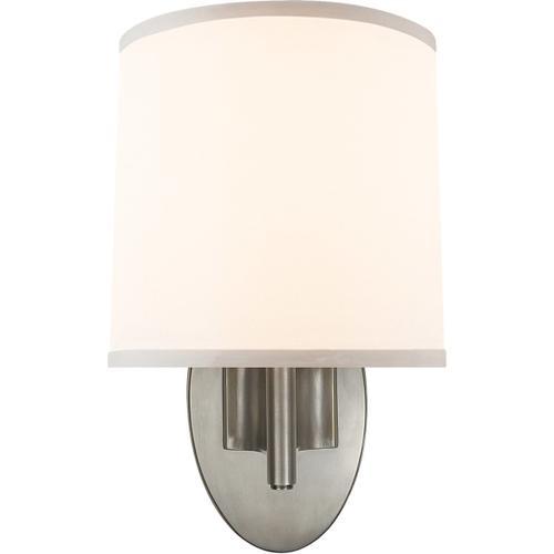 Visual Comfort - Barbara Barry Graceful Ribbon 1 Light 7 inch Pewter Finish Decorative Wall Light
