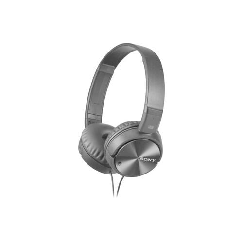 Gallery - Noise Canceling On-ear Headphones with Microphone - Gray