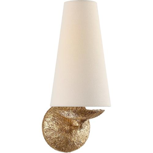 AERIN Fontaine 1 Light 6 inch Gilded Plaster Single Sconce Wall Light