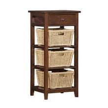 Tuscan Retreat® 3 Basket Stand - Rustic Mahogany