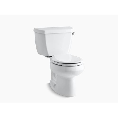 Kohler - White Two-piece Round-front 1.28 Gpf Toilet With Right-hand Trip Lever
