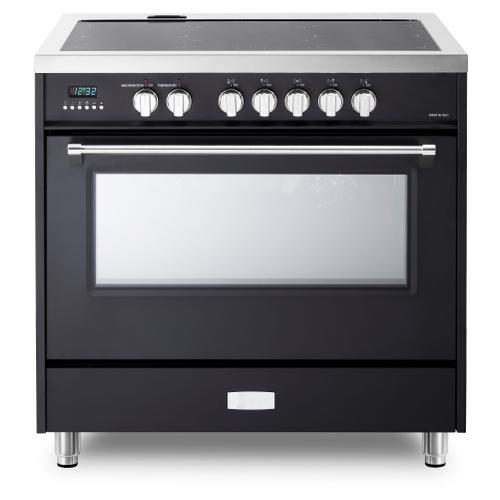 "Matte Black 36"" Designer Induction Range"