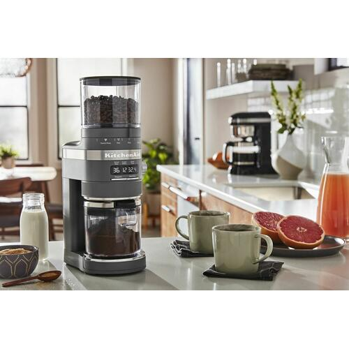 Gallery - Burr Coffee Grinder - Matte Charcoal Grey