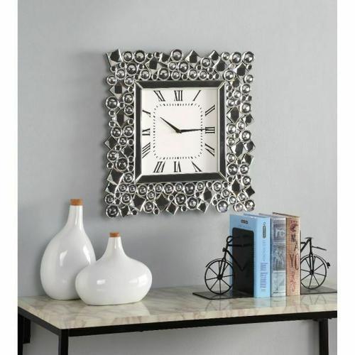 ACME Kachina Wall Clock - 97612 - Mirrored & Faux Gems