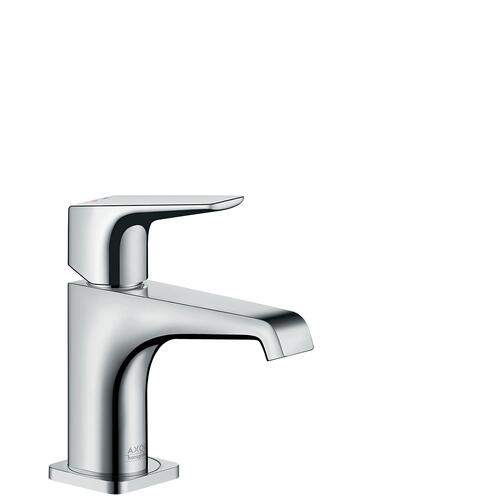 Brushed Bronze Single lever basin mixer 90 with lever handle for hand washbasins with waste set
