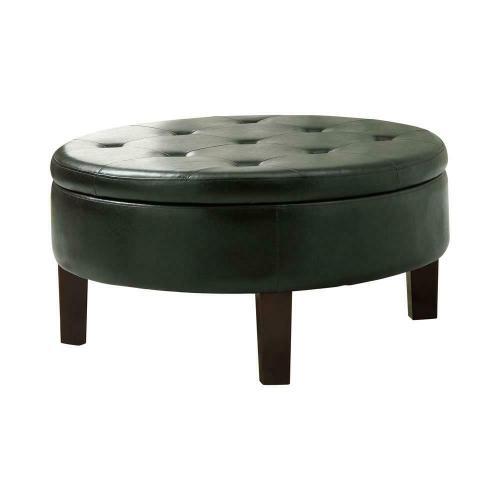 Coaster - Casual Dark Brown Round Ottoman