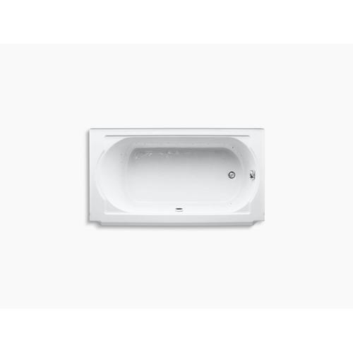 "White 60"" X 34"" Alcove Bubblemassage Air Bath With White Airjet Color Finish and Right-hand Drain"