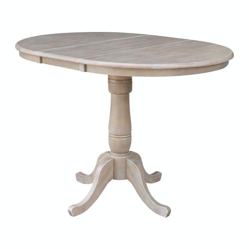John Thomas Furniture - Round Extension Table in Taupe Gray