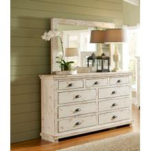 Mirror - Distressed White Finish