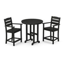View Product - Lakeside 3-Piece Round Counter Arm Chair Set in Black