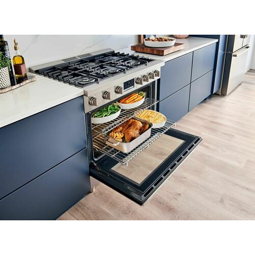 800 Series Dual Fuel Freestanding Range 36'' Stainless Steel HDS8655U