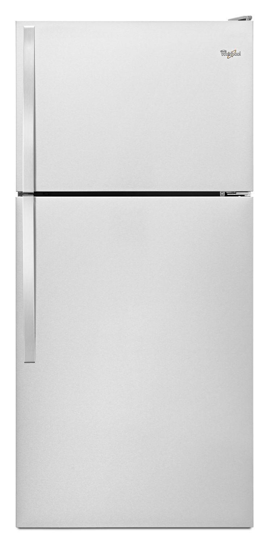 Whirlpool30-Inch Wide Top Freezer Refrigerator - 18 Cu. Ft. Monochromatic Stainless Steel