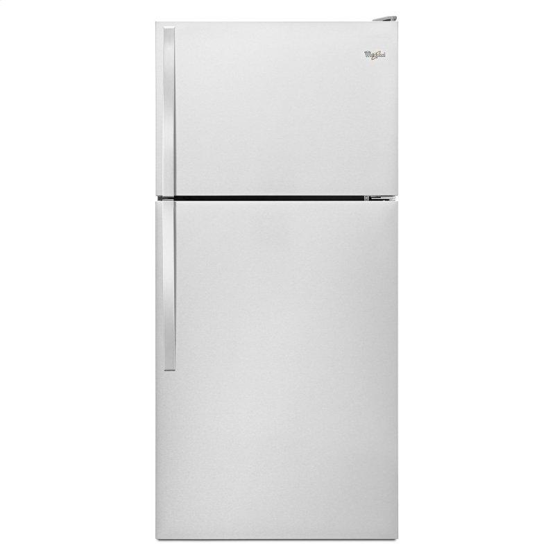30-inch Wide Top Freezer Refrigerator - 18 cu. ft. Monochromatic Stainless Steel