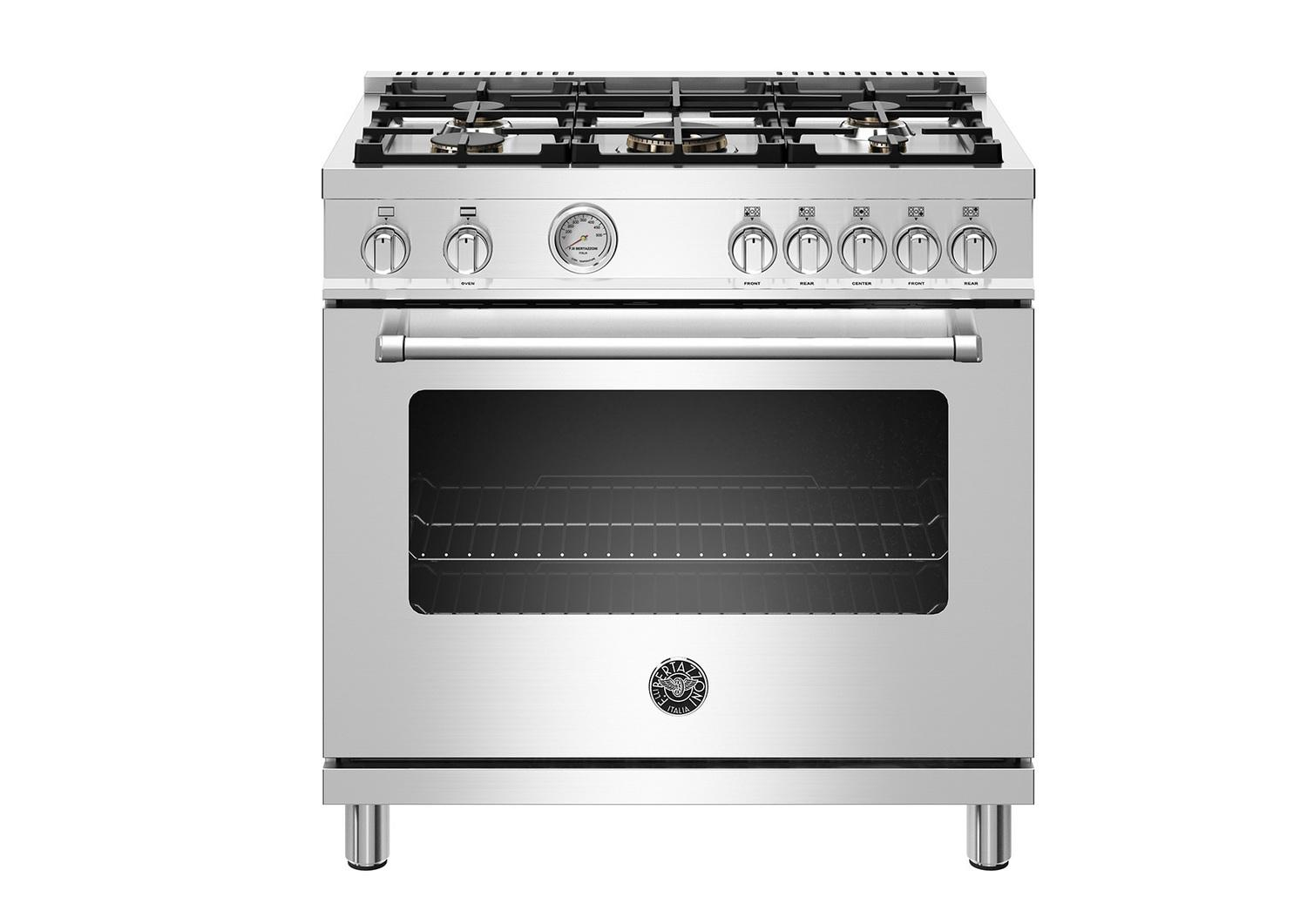 "Bertazzoni36"" Master Series Range - Gas Oven - 5 Aluminum Burners - Lp Version"