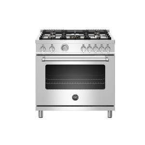 "Bertazzoni36"" Master Series range - Gas oven - 5 aluminum burners - LP version"