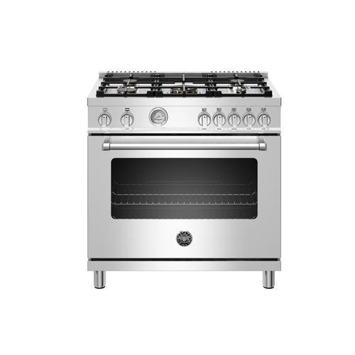 "Product Image - 36"" Master Series range - Gas oven - 5 aluminum burners - LP version"