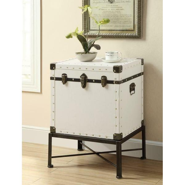 See Details - Traditional White Accent Cabinet