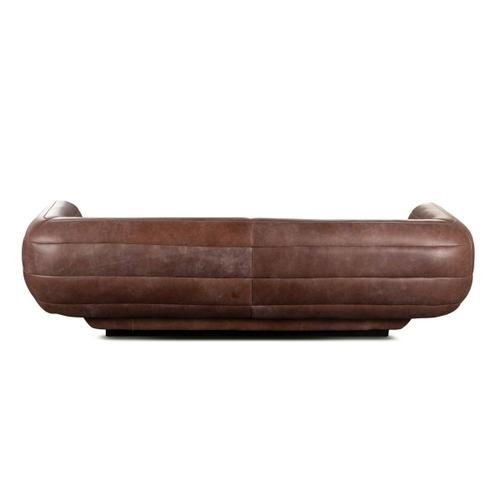 Amoeba Sofa in Granite Gray Leather