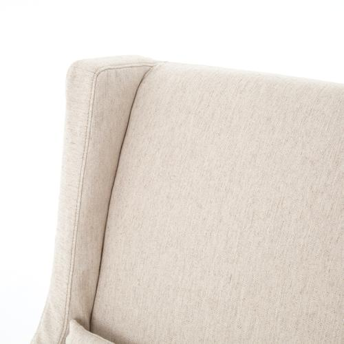 Swivel Wing Chair-jette Linen