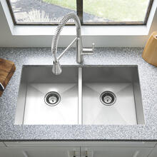 """See Details - Edgewater 33x22"""" ADA Double Bowl Stainless Steel Kitchen Sink  American Standard - Stainless Steel"""