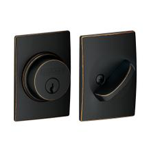 View Product - Single Cylinder Deadbolt with Century Trim - Aged Bronze