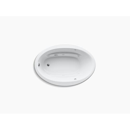 "White 60"" X 42"" Drop-in Whirlpool Bath With Bask Heated Surface and Reversible Drain"