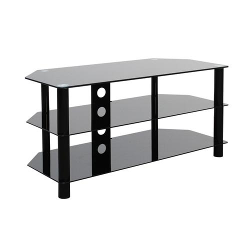 """Gallery - OSC Design TV A/V Metal Stand Glass Top Up to 50"""" TV Matching"""