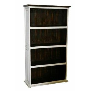 See Details - Weathered White Large Bookcase