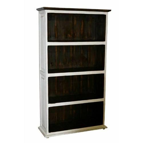 Million Dollar Rustic - Weathered White Large Bookcase